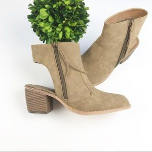 Michael Antonio Cut Out Natural Moon Booties 9
